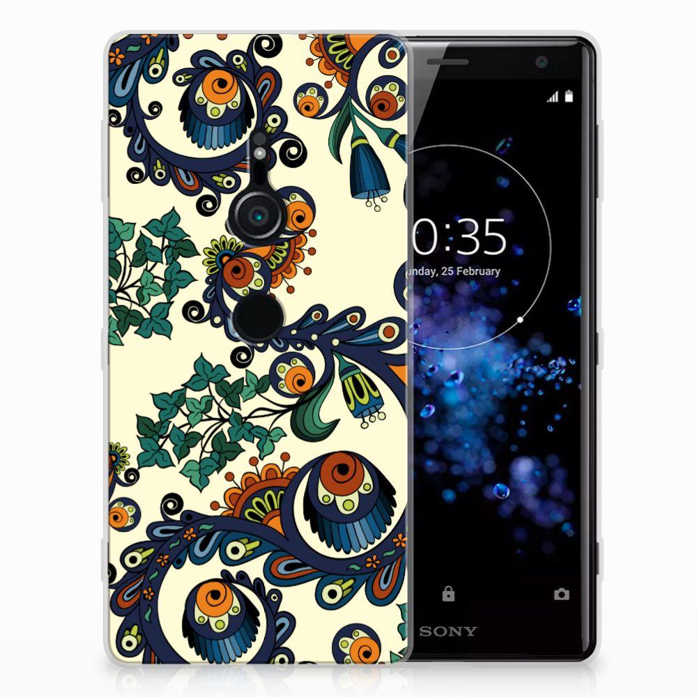 Sony Xperia XZ2 TPU Hoesje Design Barok Flower