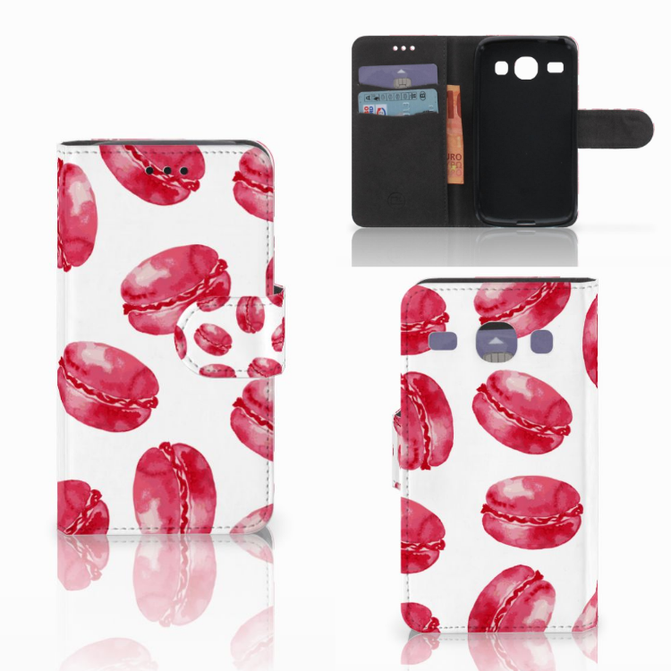 Samsung Galaxy Core i8260 Book Cover Pink Macarons