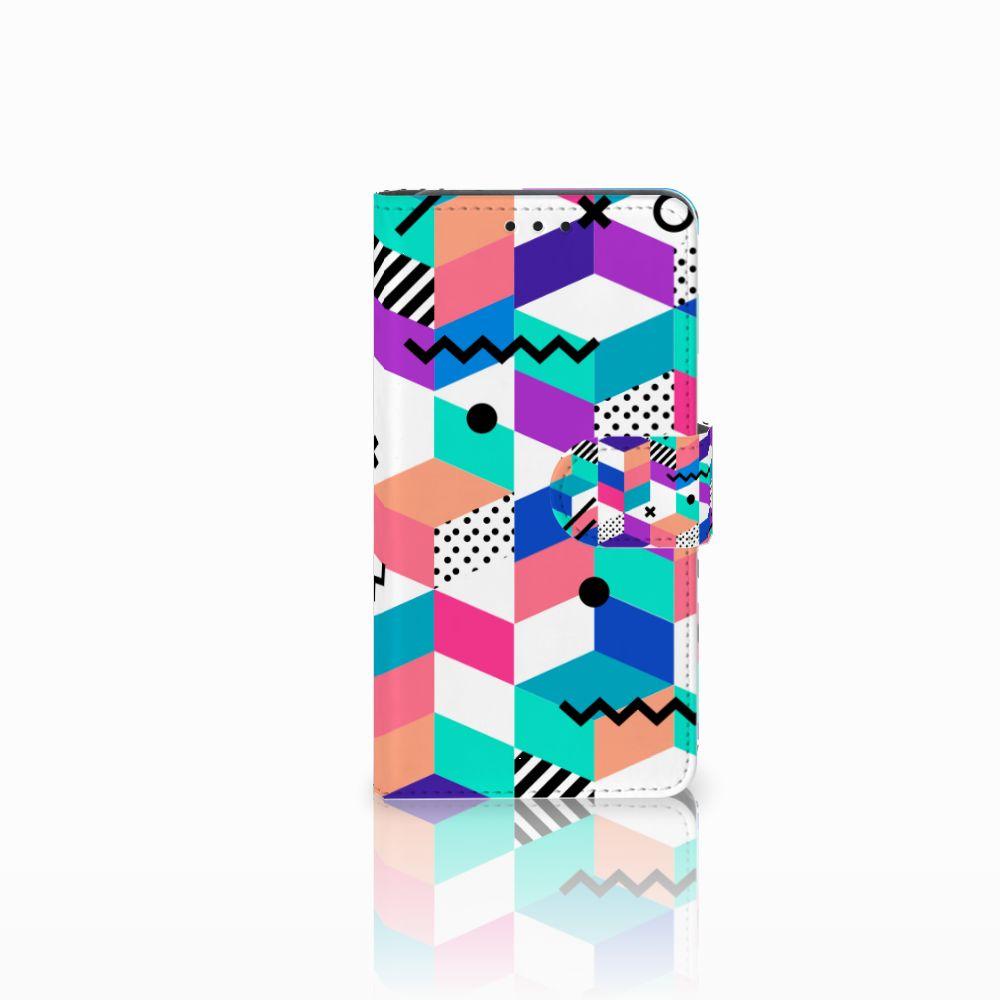 Huawei Y6 Pro 2017 Bookcase Blokken Kleurrijk