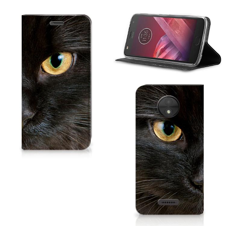 Motorola Moto C Hoesje maken Zwarte Kat