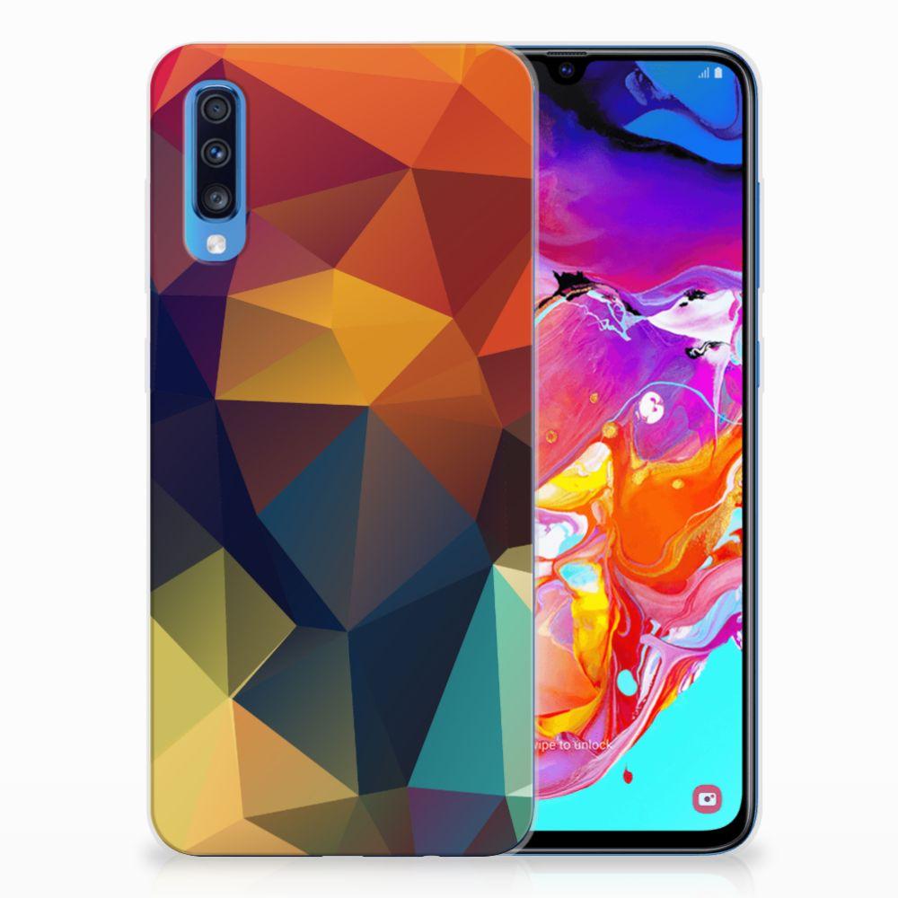 Samsung Galaxy A70 TPU Hoesje Polygon Color