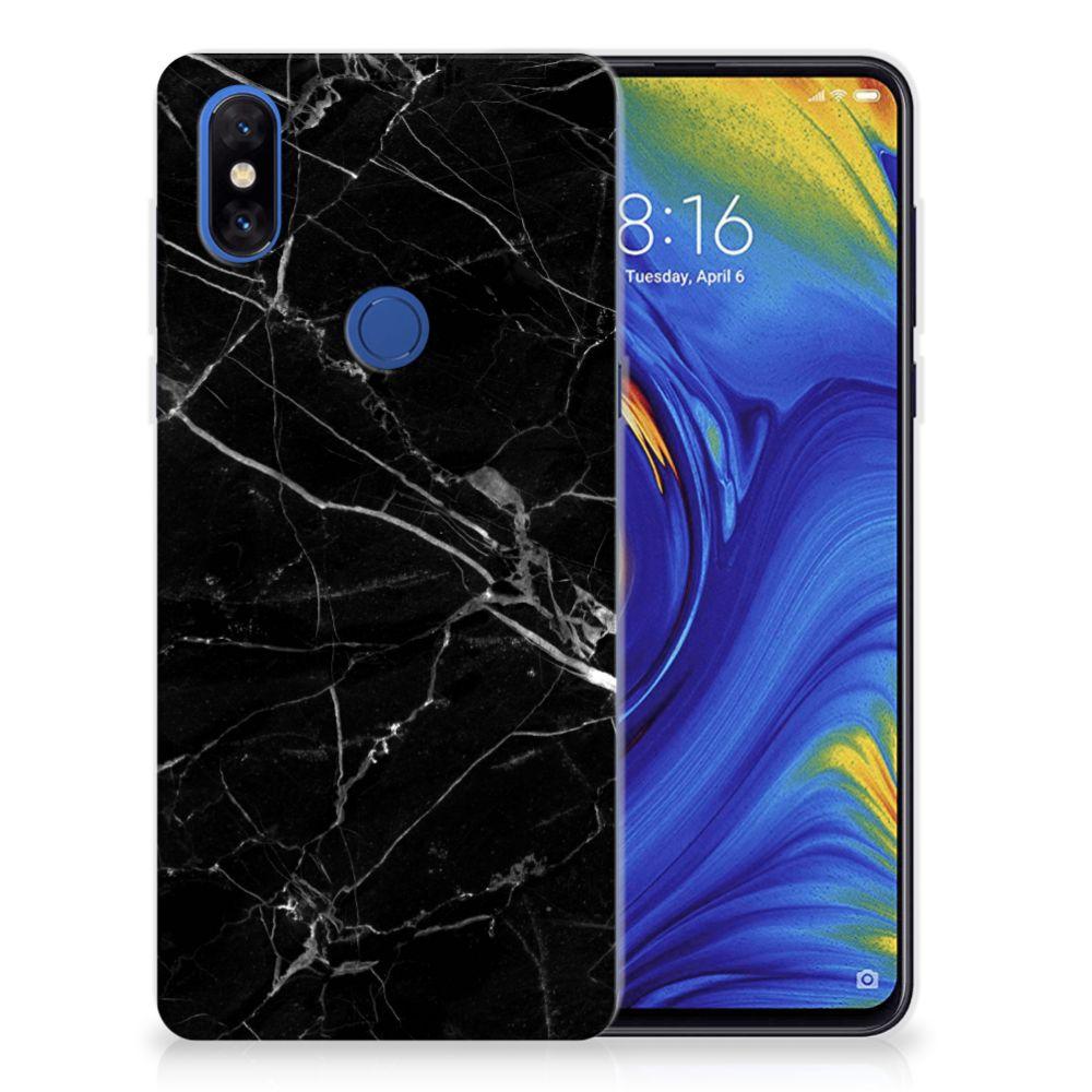 Xiaomi Mi Mix 3 TPU Siliconen Hoesje Marmer Zwart