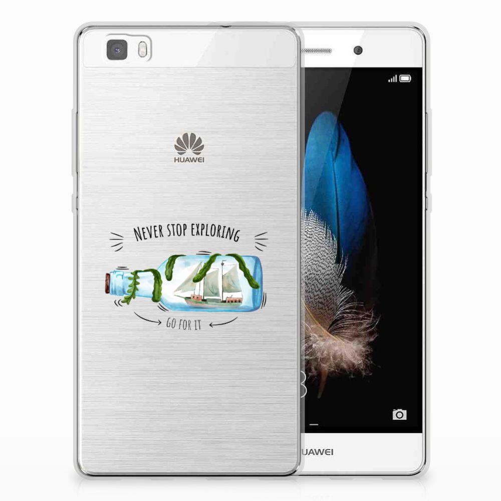 Huawei Ascend P8 Lite Telefoonhoesje met Naam Boho Bottle