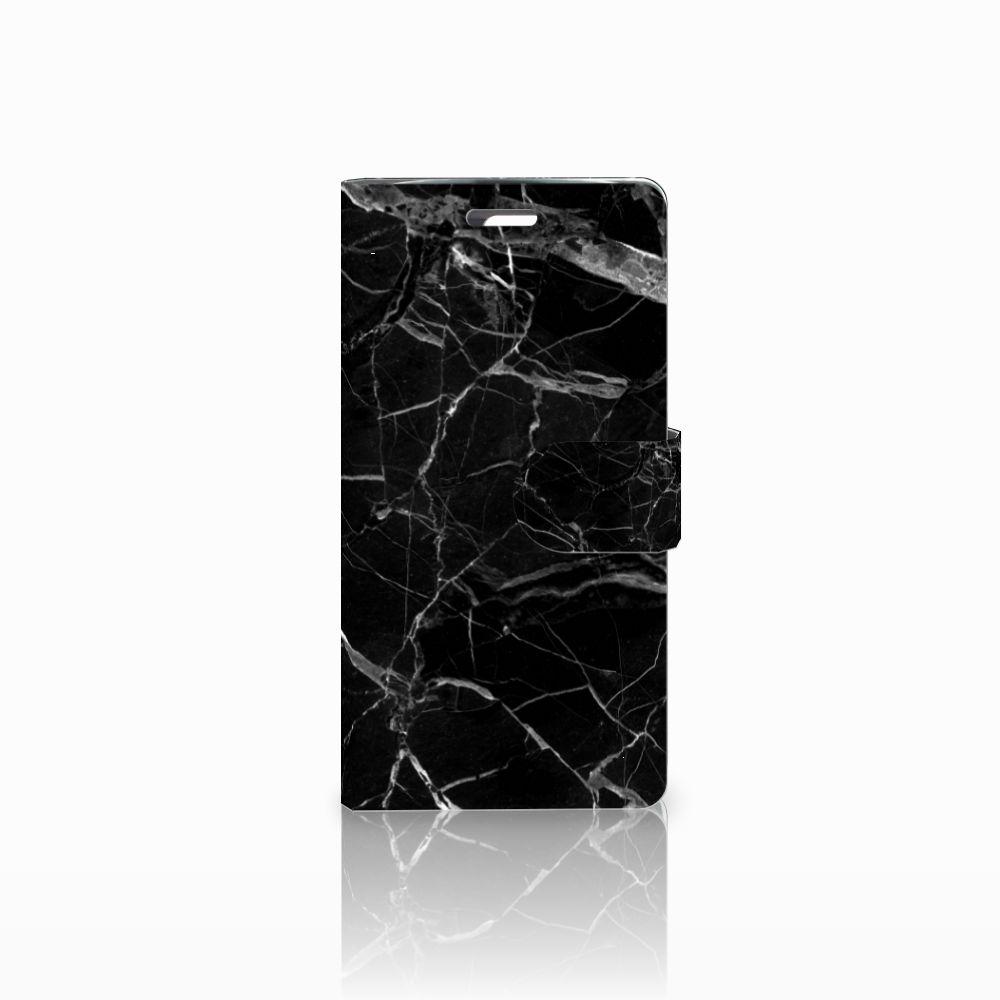 LG K10 2015 Uniek Boekhoesje Marmer Zwart