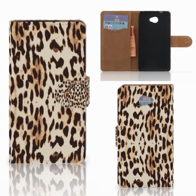 HTC Desire 601 Telefoonhoesje met Pasjes Leopard