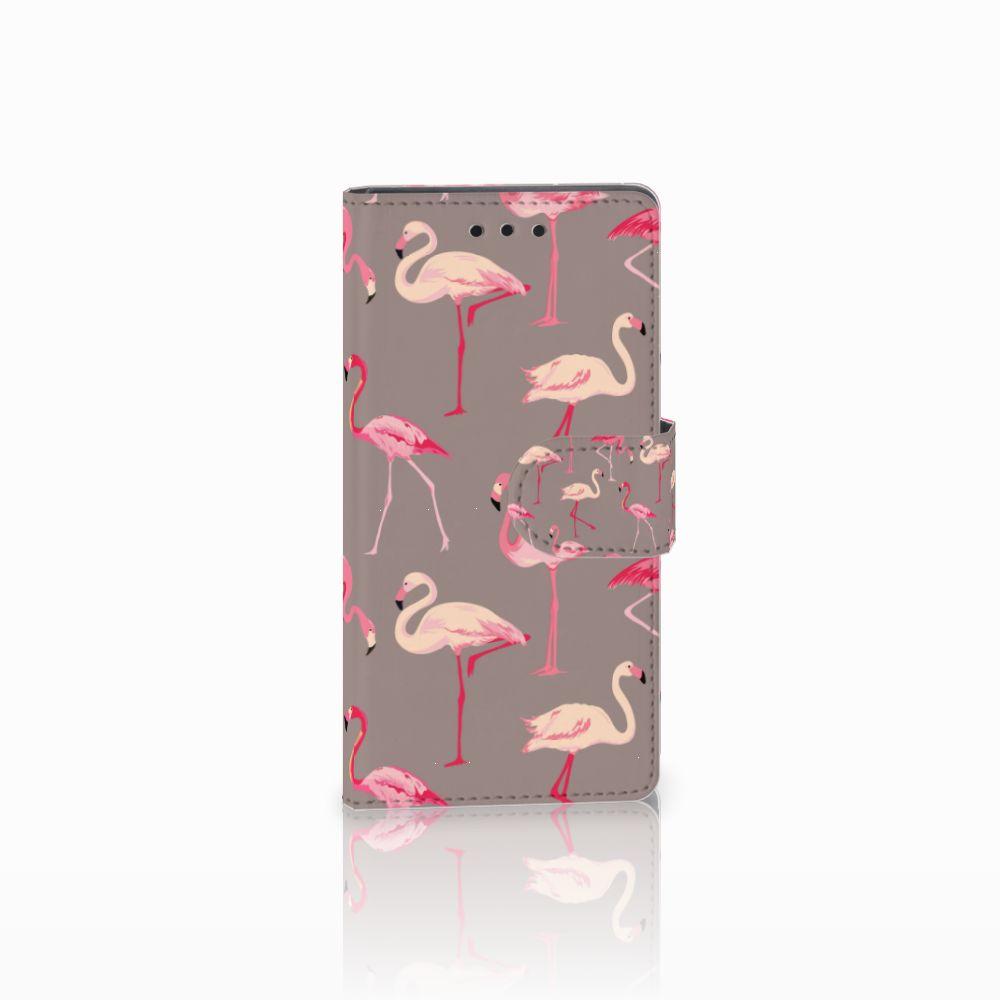 Sony Xperia Z5 Compact Uniek Boekhoesje Flamingo