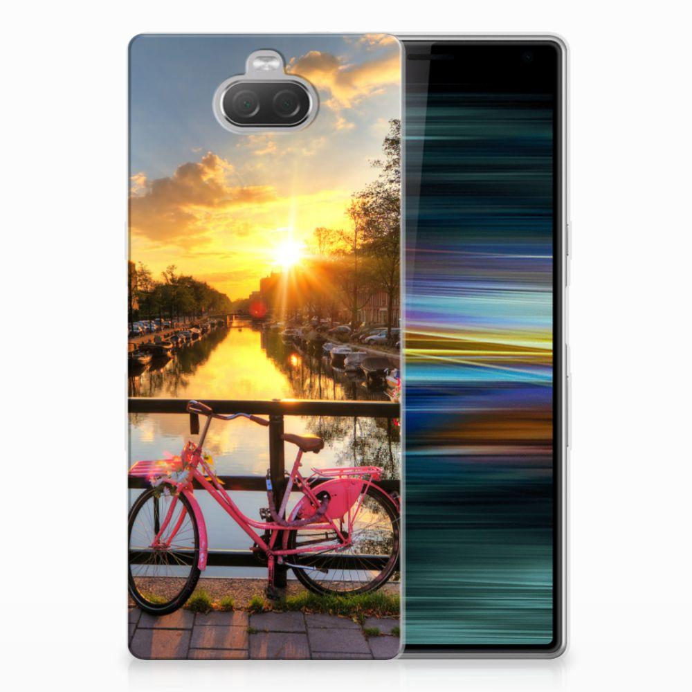 Sony Xperia 10 Plus Siliconen Back Cover Amsterdamse Grachten