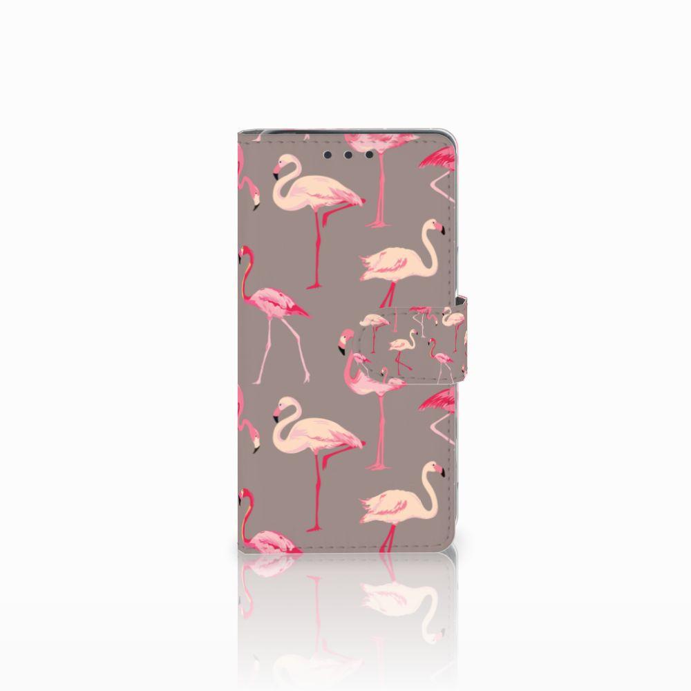 Sony Xperia X Uniek Boekhoesje Flamingo