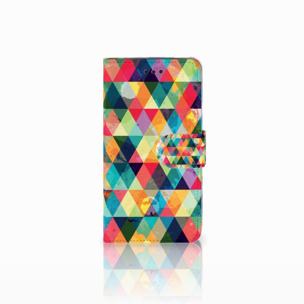 Samsung Galaxy J2 Pro 2018 Uniek Boekhoesje Geruit