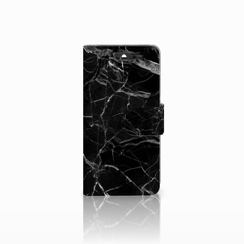 Huawei Ascend Y550 Uniek Boekhoesje Marmer Zwart