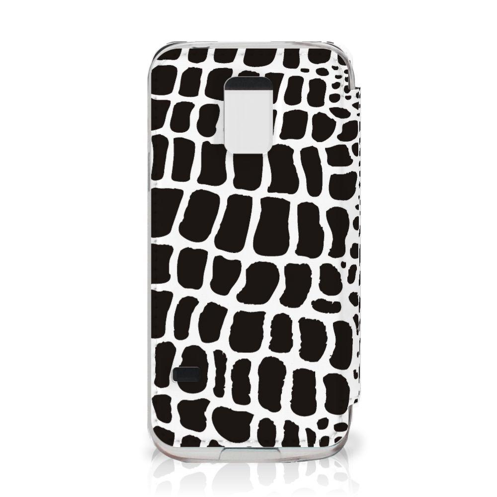 Samsung Galaxy S5 Mini Telefoonhoesje met Pasjes Slangenprint