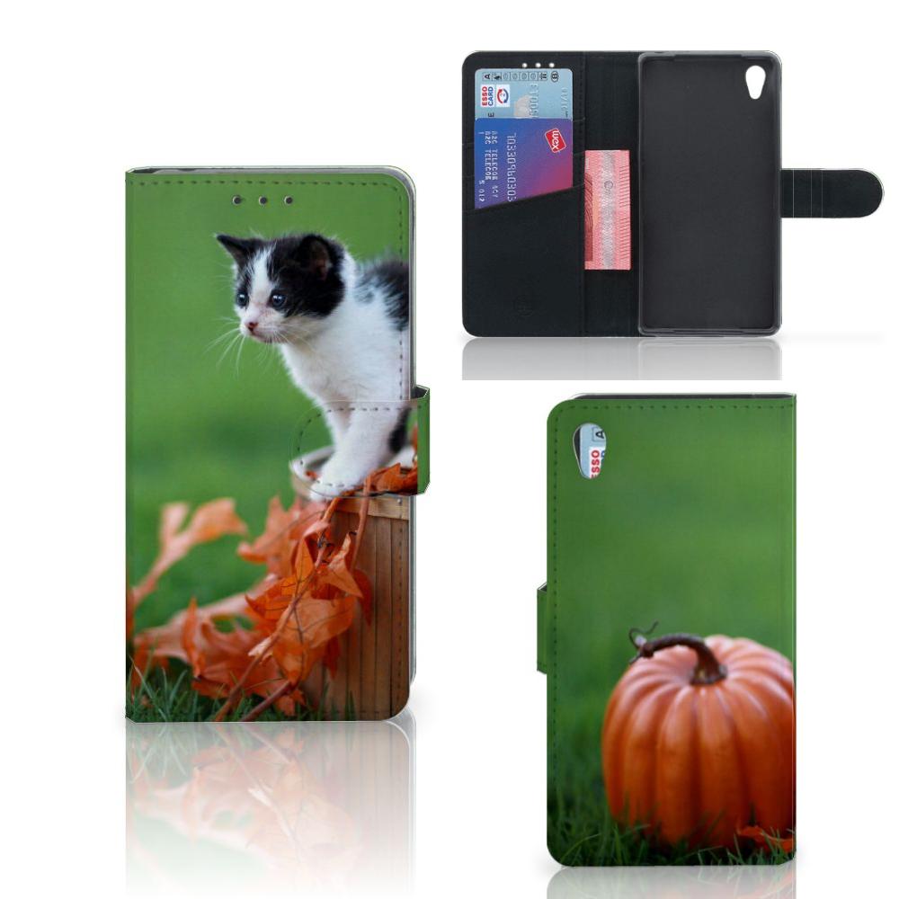 Sony Xperia Z2 Telefoonhoesje met Pasjes Kitten
