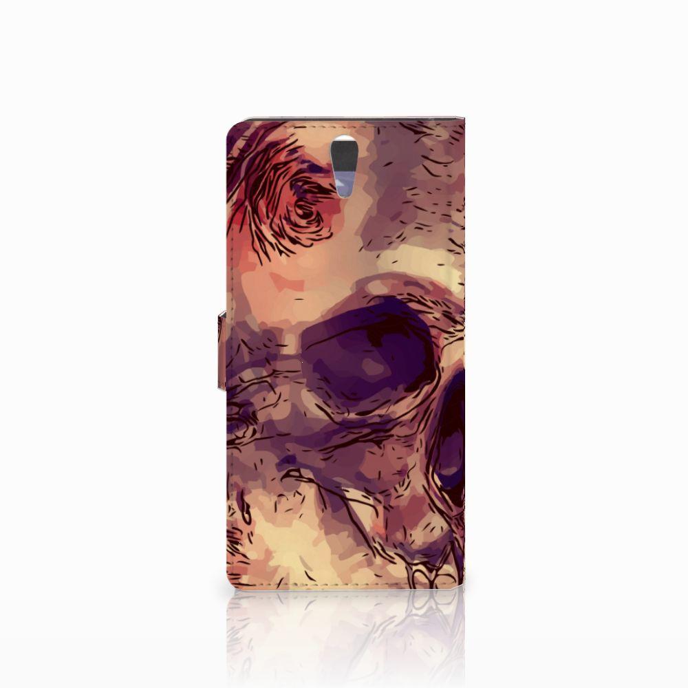 Telefoonhoesje met Naam Sony Xperia C5 Ultra Skullhead