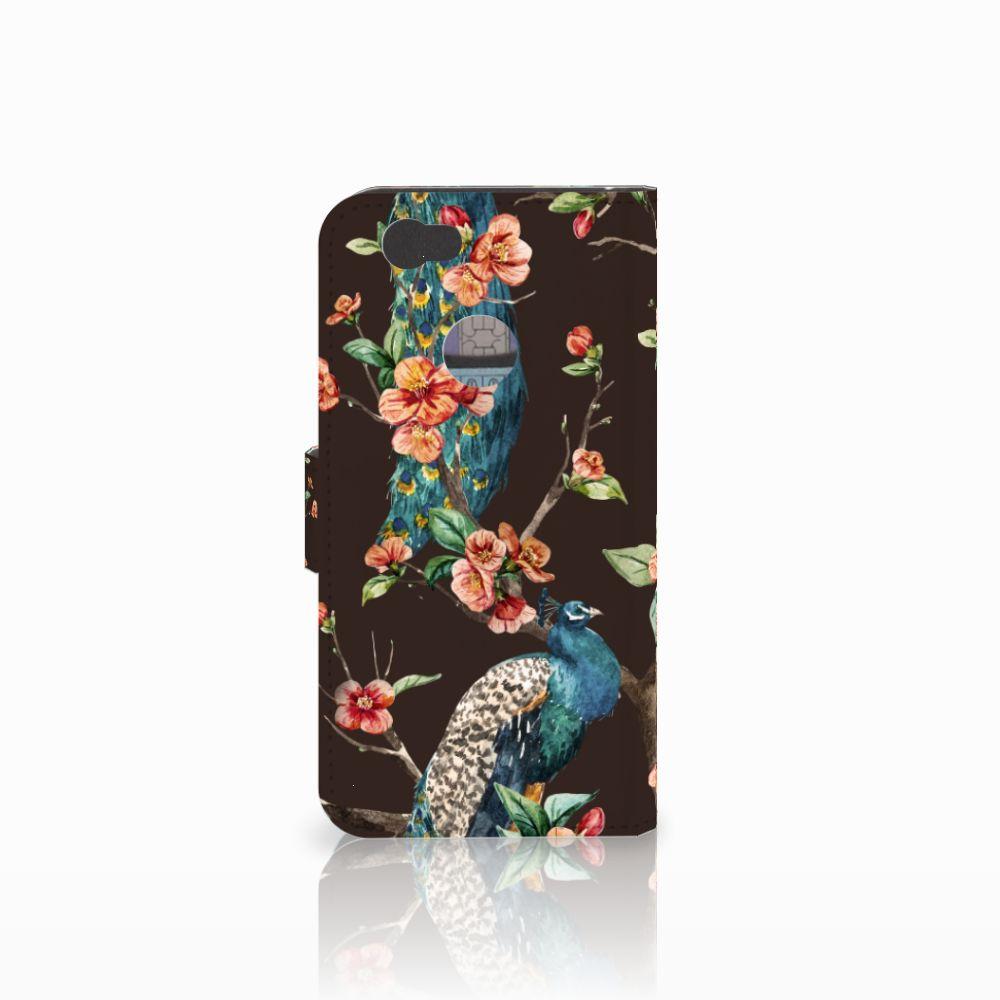 Huawei Nova Telefoonhoesje met Pasjes Pauw met Bloemen