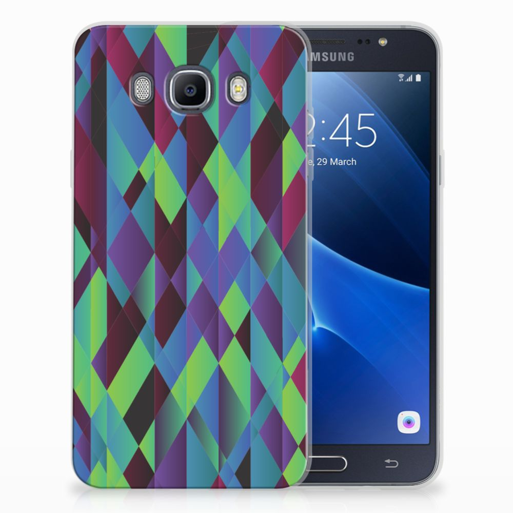 Samsung Galaxy J7 2016 TPU Hoesje Abstract Green Blue