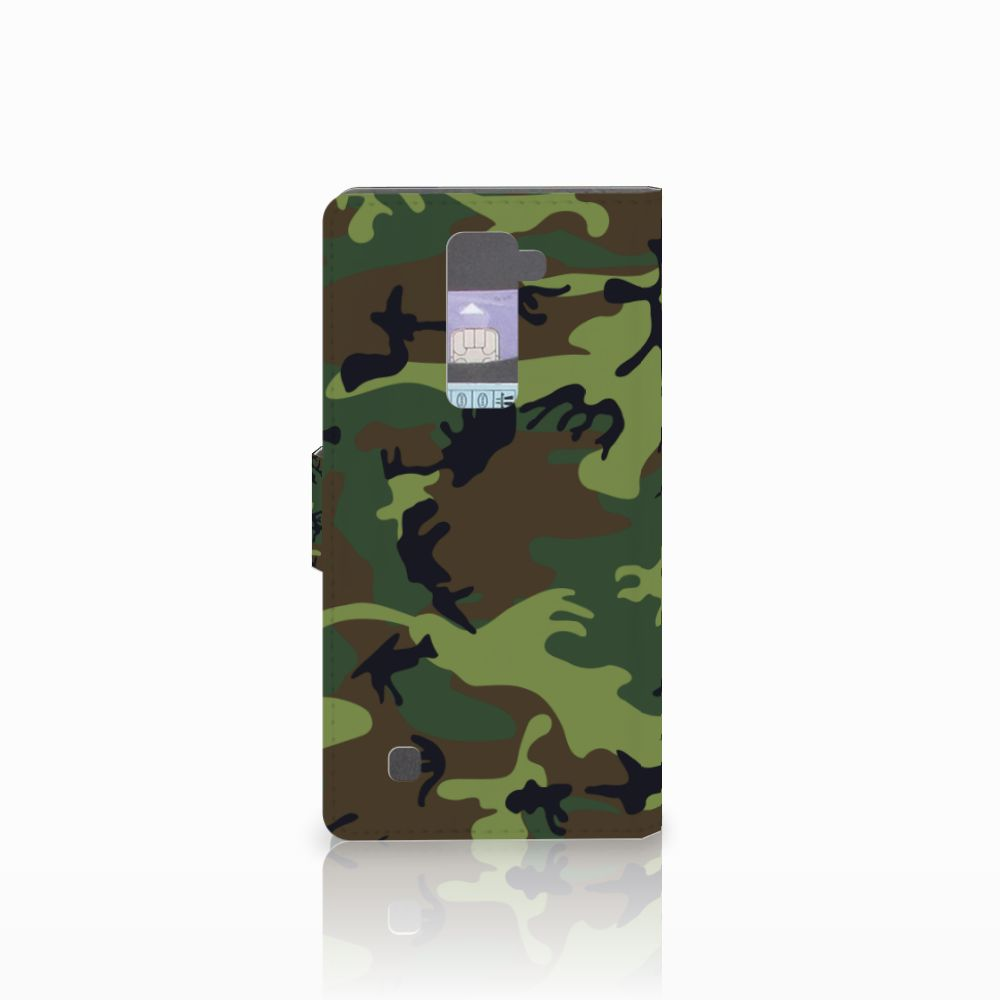 LG K10 2015 Telefoon Hoesje Army Dark