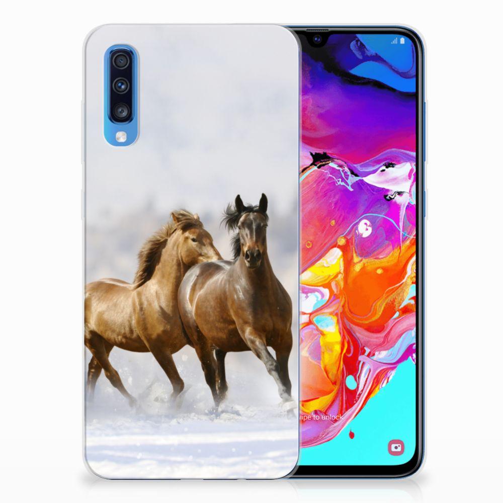 Samsung Galaxy A70 Leuk Hoesje Paarden