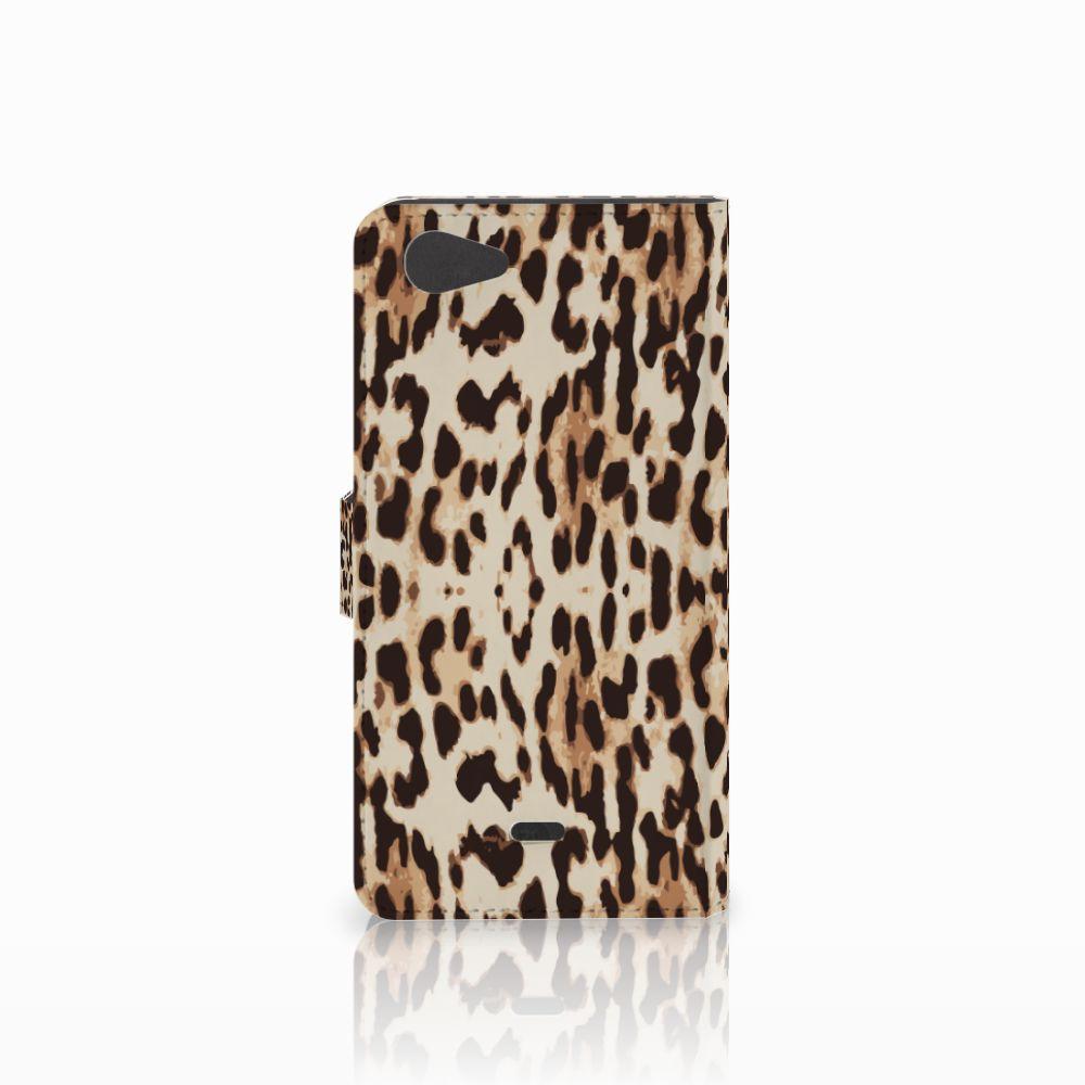 Wiko Pulp Fab 4G Telefoonhoesje met Pasjes Leopard