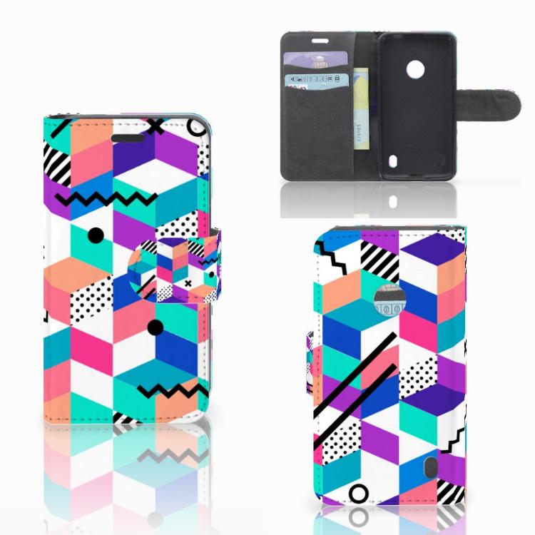 Nokia Lumia 520 Bookcase Blokken Kleurrijk