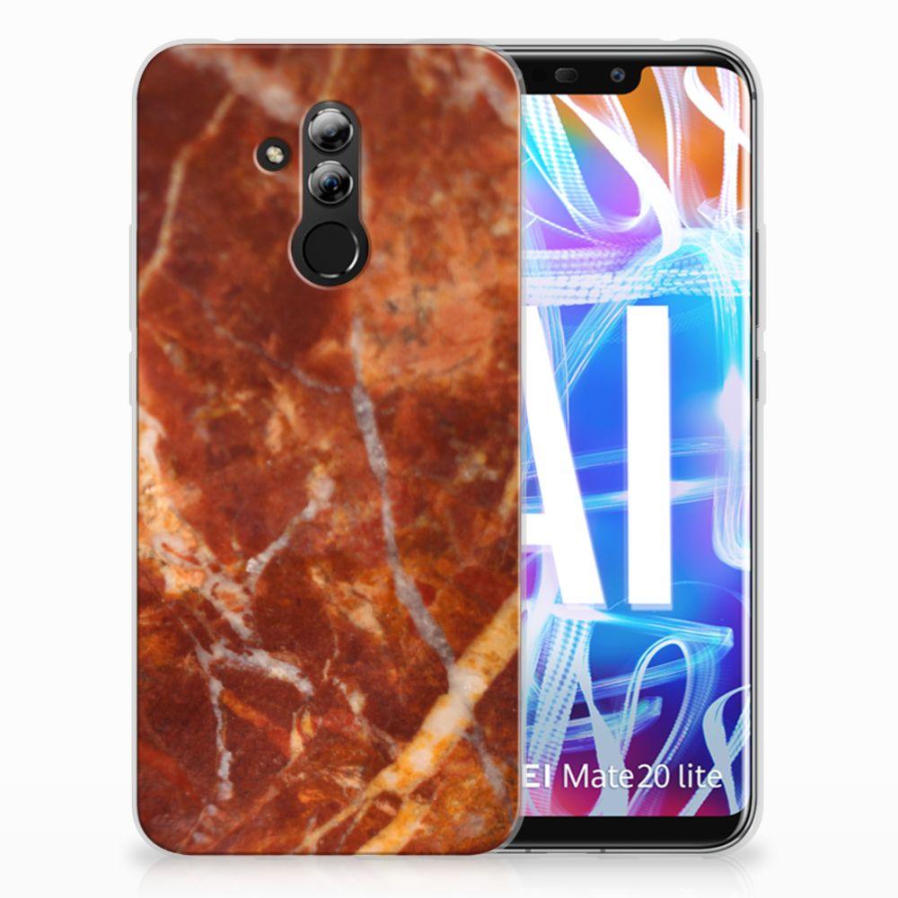 Huawei Mate 20 Lite TPU Hoesje Design Marmer Bruin
