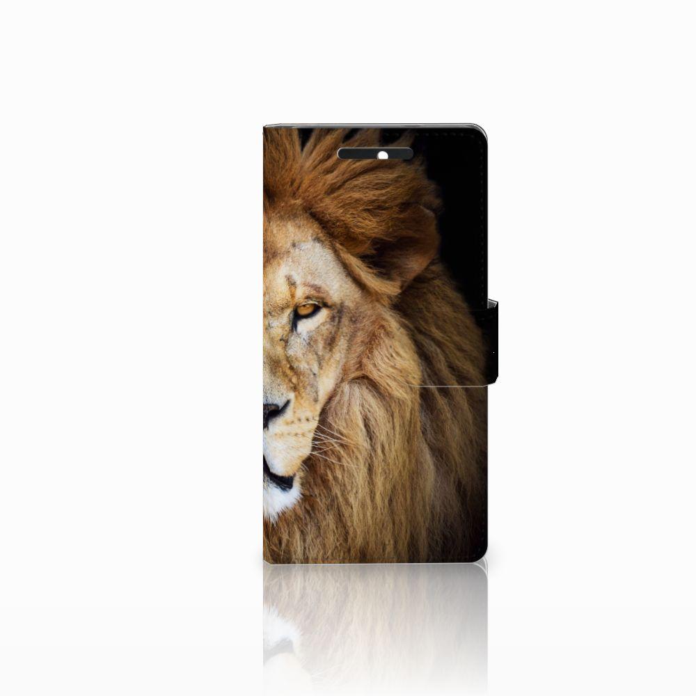 HTC Desire 628 Telefoonhoesje met Pasjes Leeuw