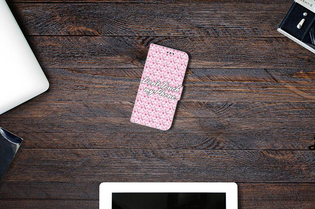 Samsung Galaxy A5 2017 Uniek Boekhoesje Flowers Pink DTMP