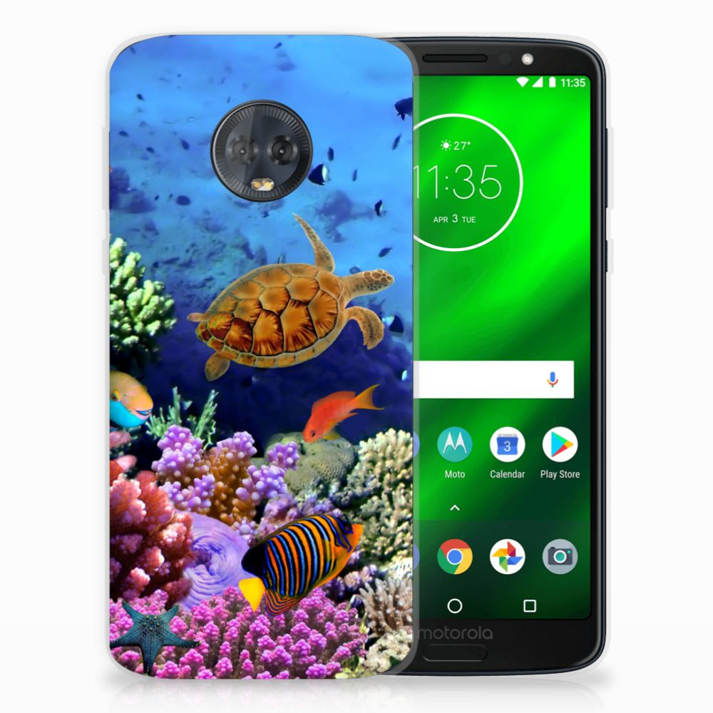 Motorola Moto G6 Plus TPU Hoesje Design Vissen