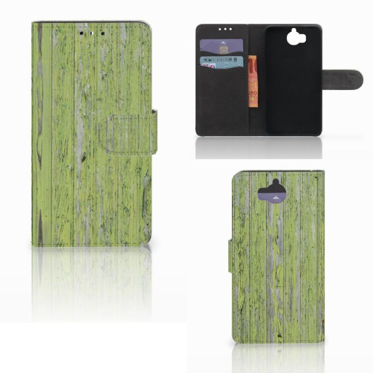 Huawei Y5 | Y6 2017 Book Style Case Green Wood