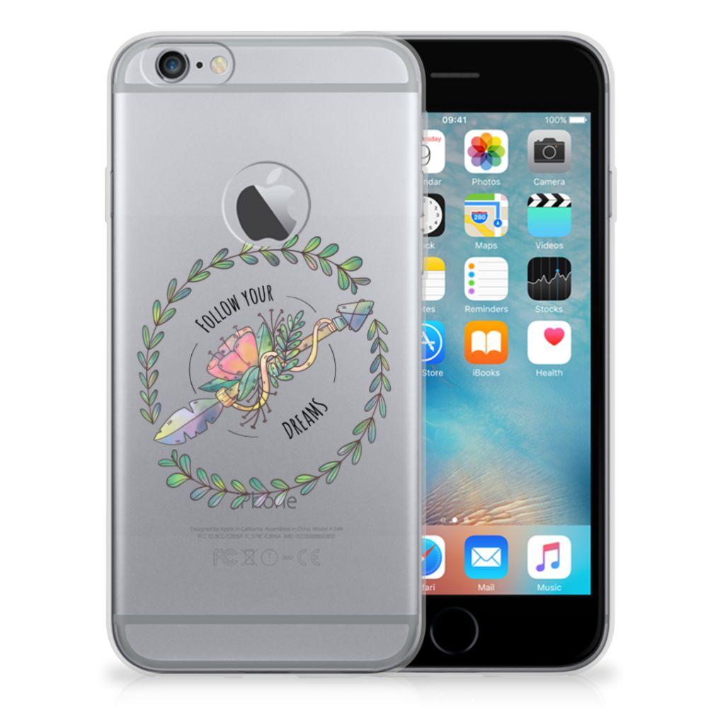 Apple iPhone 6 Plus | 6s Plus Telefoonhoesje met Naam Boho Dreams