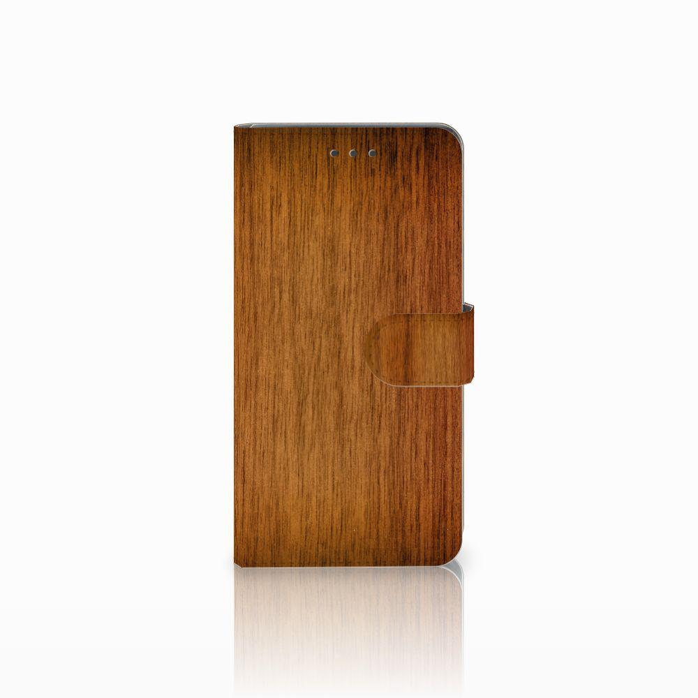 Huawei Mate 8 Uniek Boekhoesje Donker Hout