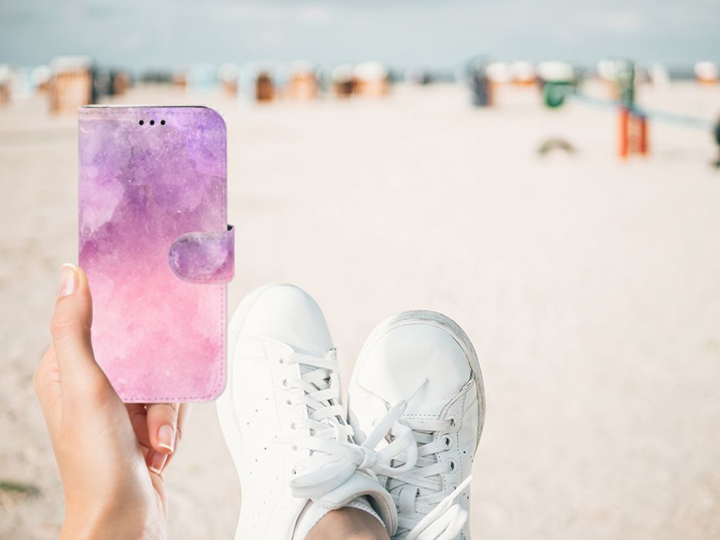 Samsung Galaxy J5 2017 Boekhoesje Design Pink Purple Paint