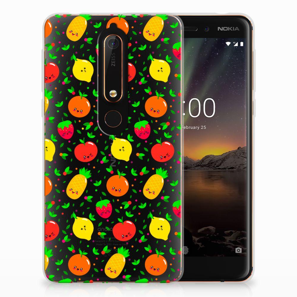 Nokia 6 (2018) Siliconen Case Fruits