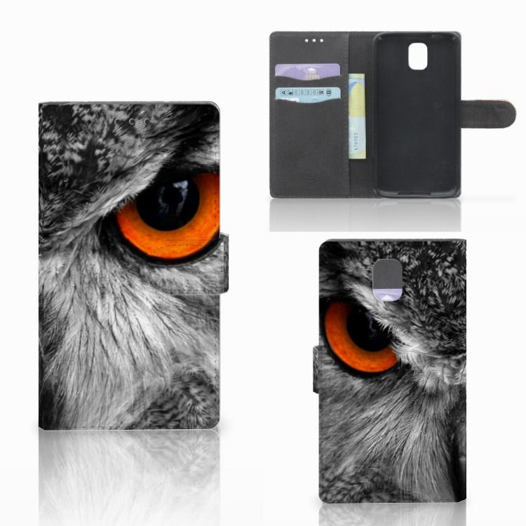 Samsung Galaxy Note 3 Telefoonhoesje met Pasjes Uil