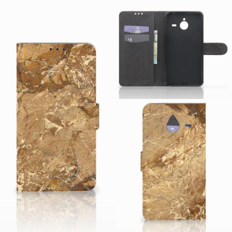 Microsoft Lumia 640 XL Bookcase Marmer Creme