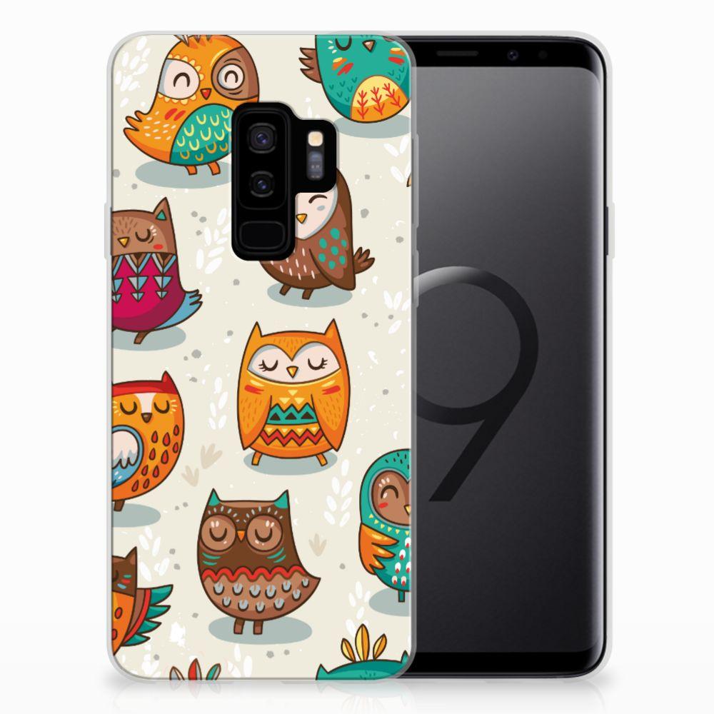 Samsung Galaxy S9 Plus TPU Hoesje Vrolijke Uilen
