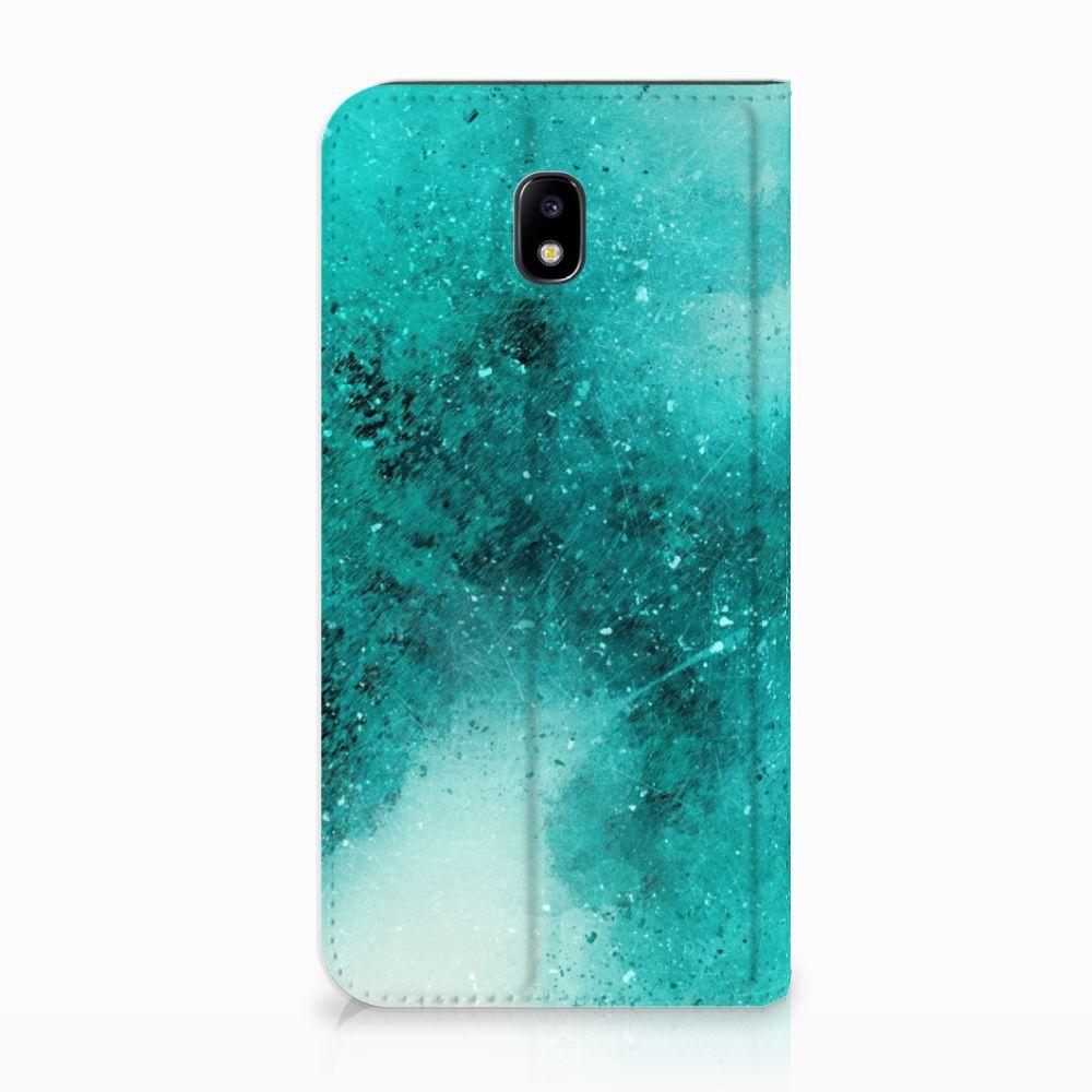 Samsung Galaxy J5 2017 Uniek Standcase Hoesje Painting Blue