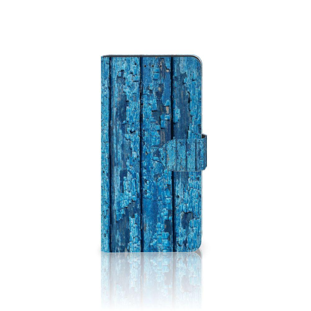 Samsung Galaxy A7 (2018) Uniek Boekhoesje Wood Blue