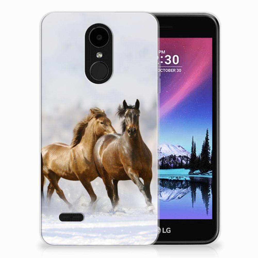 LG K4 (2017) TPU Hoesje Paarden