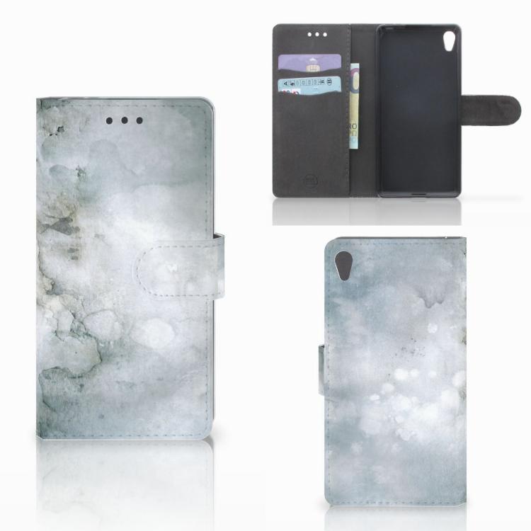 Hoesje Sony Xperia E5 Painting Grey