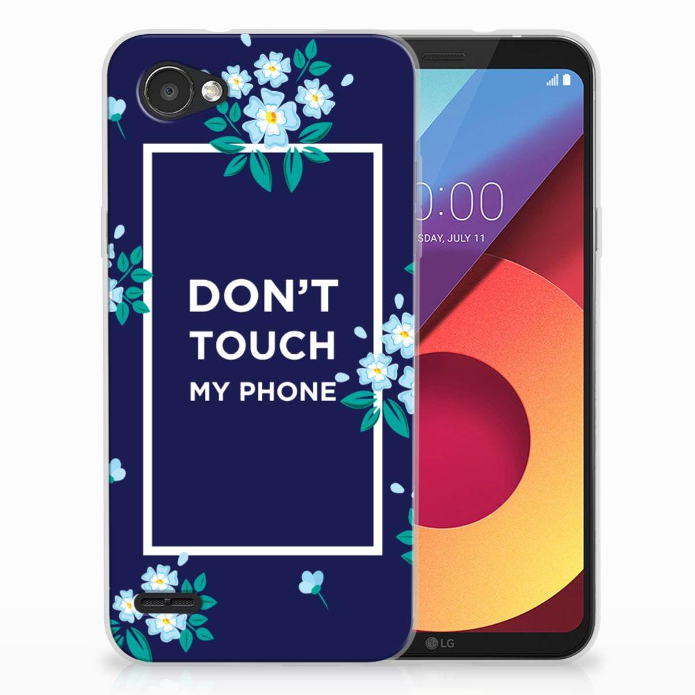 LG Q6 | LG Q6 Plus TPU Hoesje Flowers Blue DTMP