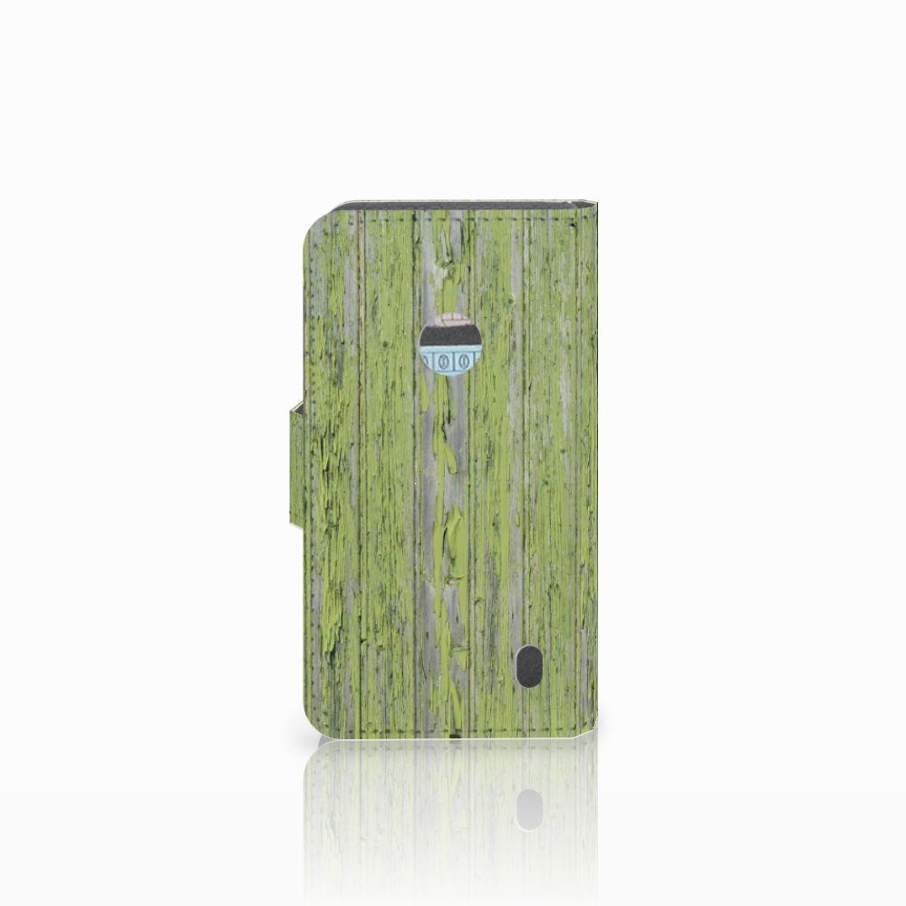 Nokia Lumia 520 Book Style Case Green Wood