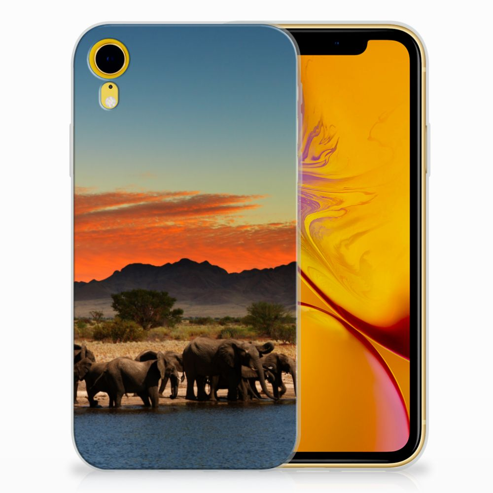 Apple iPhone Xr TPU Hoesje Design Olifanten