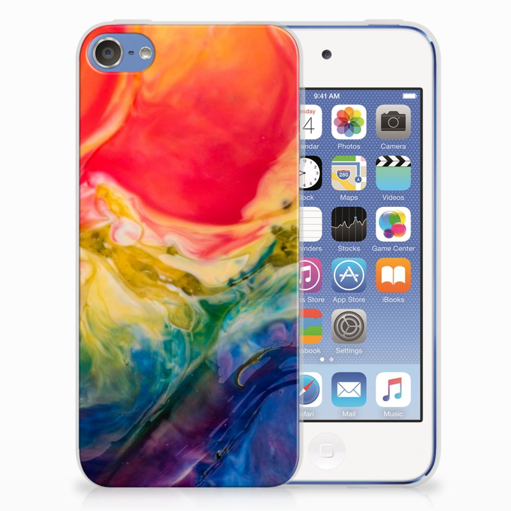 Hoesje maken Apple iPod Touch 5   6 Watercolor Dark
