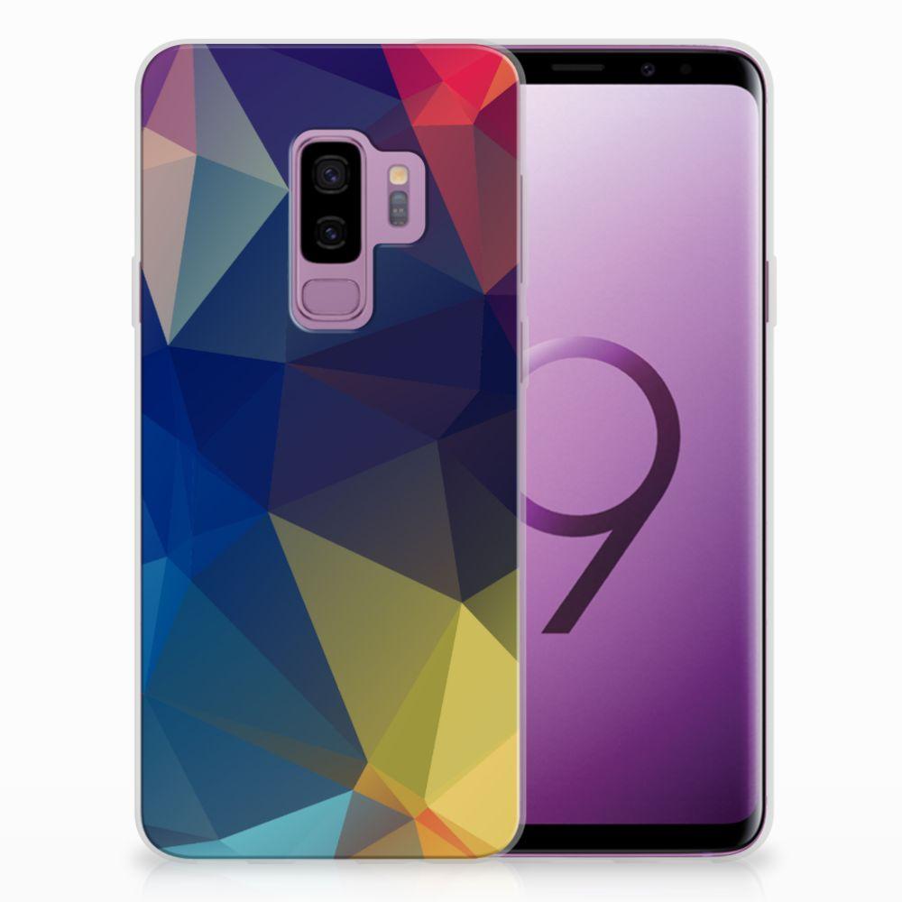 Samsung Galaxy S9 Plus Uniek TPU Hoesje Polygon Dark