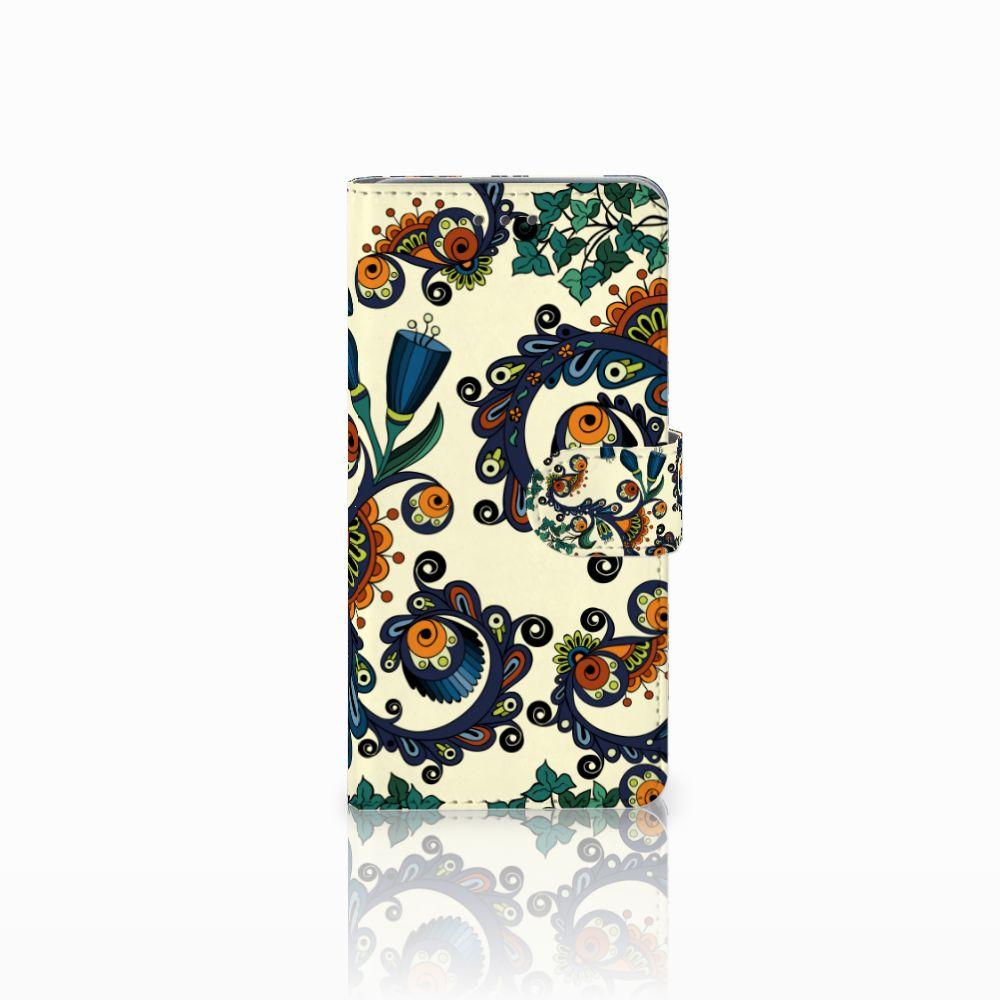 Wiko Lenny 2 Boekhoesje Design Barok Flower
