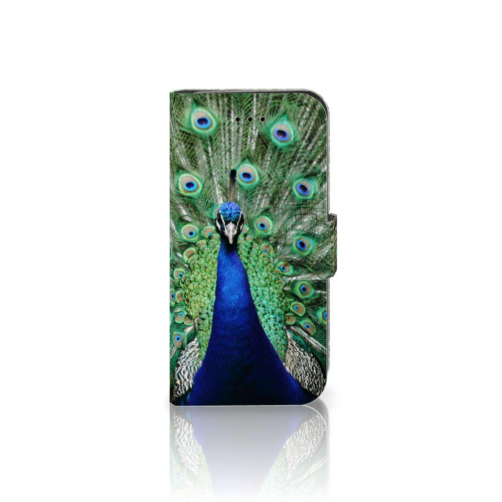 iPhone 7   8   SE (2020) Telefoonhoesje met Pasjes Pauw