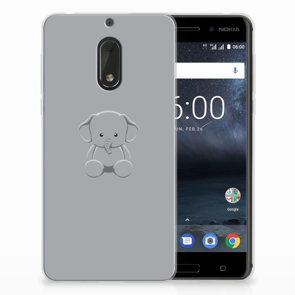 Nokia 6 Uniek TPU Hoesje Baby Olifant