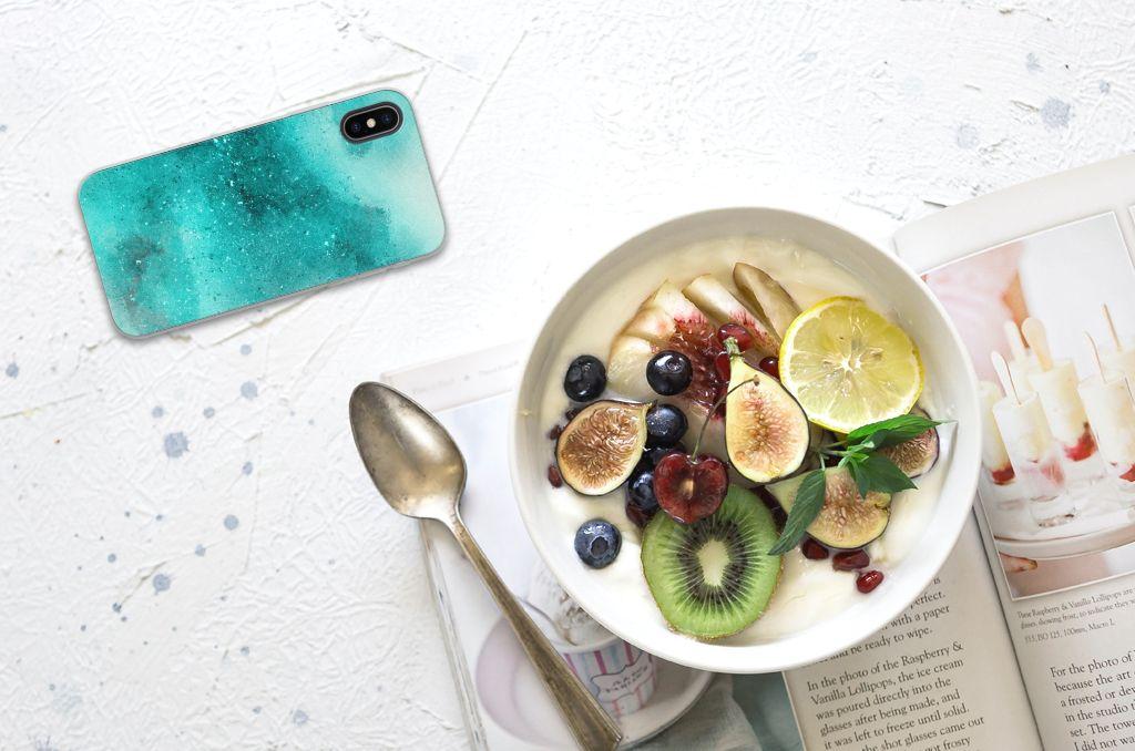 Apple iPhone X | Xs Uniek TPU Hoesje Painting Blue
