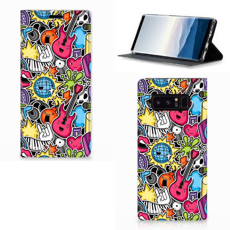 Samsung Galaxy Note 8 Hippe Standcase Punk Rock