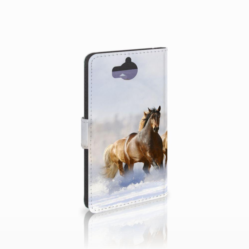 Huawei Y5 | Y6 2017 Uniek Boekhoesje Paarden